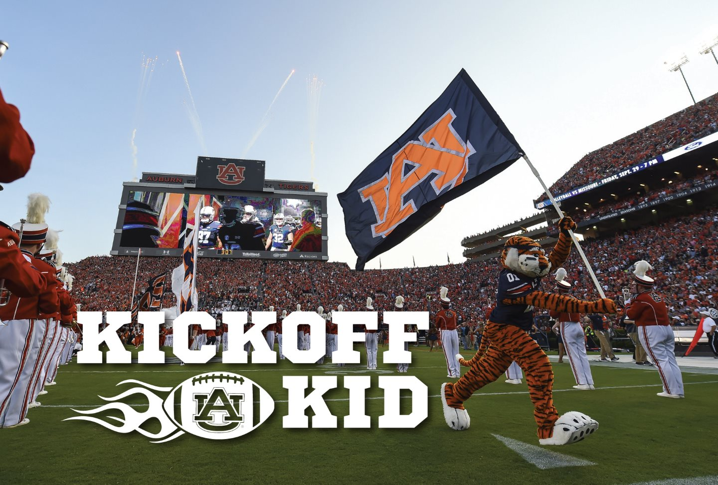 Kickoff Kid Header - Aubie Leading the charge on gameday.