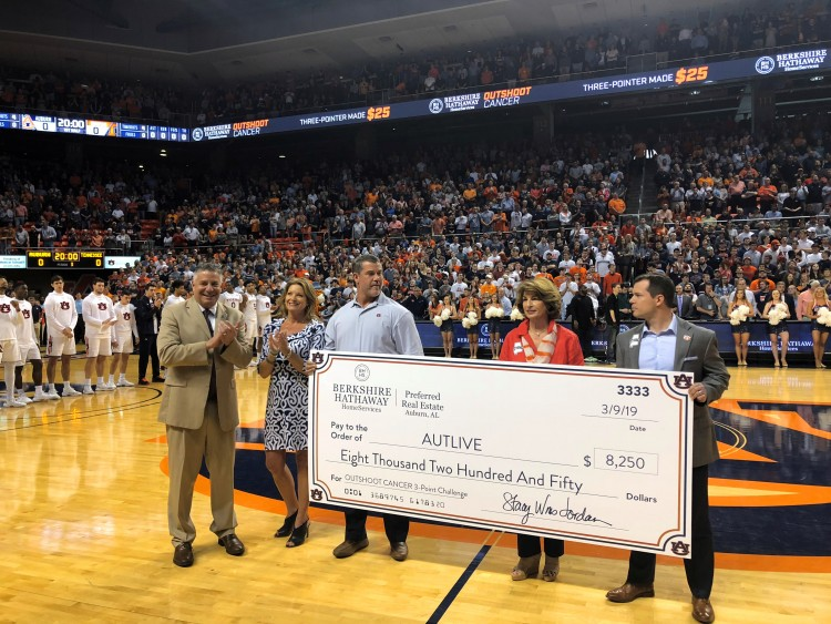 BHHS Donates $8,250 in Their OUTSHOOT CANCER 3-Point Challenge - And the Number Keeps Rising!