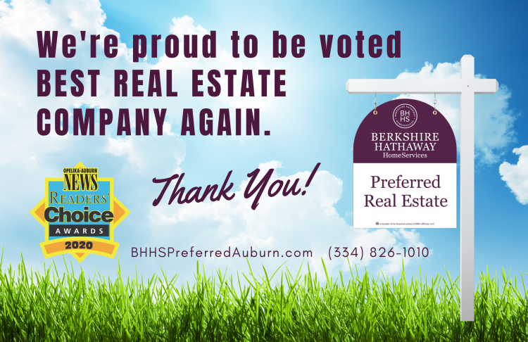 Berkshire Hathaway HomesServices Named Best Real Estate Company in Auburn-Opelika